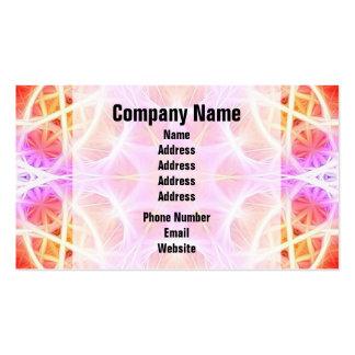 Pink Hippie Mandala Pattern Business Card
