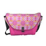 Pink Hippie Mandala Pattern Courier Bags