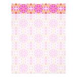 Pink Hippie Mandala Pattern Customized Letterhead