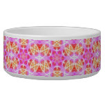 Pink Hippie Mandala Pattern Dog Bowl