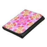 Pink Hippie Mandala Pattern Leather Wallet