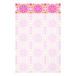 Pink Hippie Mandala Pattern Personalized Stationery