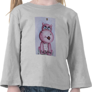 Pink Hippo Customizable T-shirt