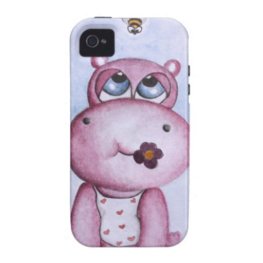 Pink Hippo iPhone 4/4S Case