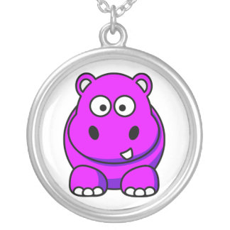 Pink Hippo Necklace