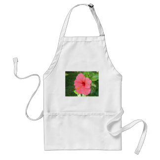 Pink Hisbiscus Flower Adult Apron
