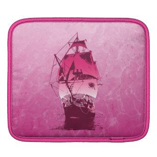 Pink Historical Ship iPad Sleeve