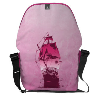 Pink Historical Ship Messenger Bags
