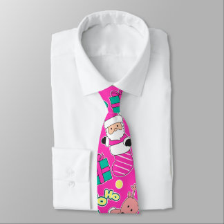Pink - Ho Ho Santa Tie