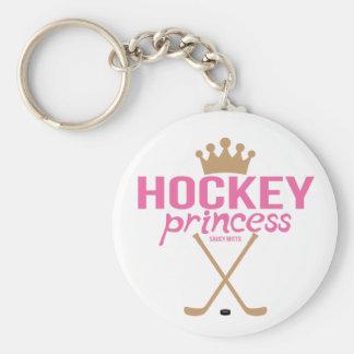 Pink Hockey Princess Sticks Keychain