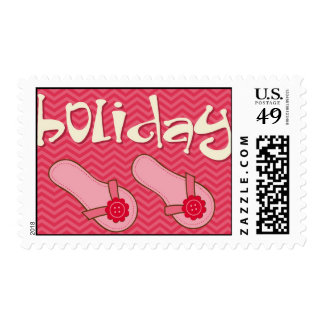 pink holiday postage stamps