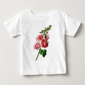 Pink Hollyhock Drawn From Nature Baby T-Shirt