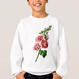 Pink Hollyhock Drawn From Nature Sweatshirt