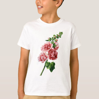 Pink Hollyhock Drawn From Nature T-Shirt