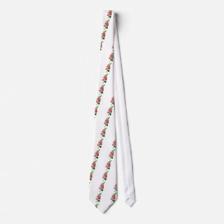 Pink Hollyhock Drawn From Nature Tie