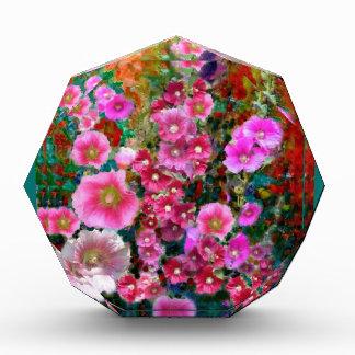Pink Hollyhock Garden Gifts by Sharles Acrylic Award