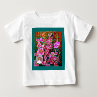 Pink Hollyhock Garden Gifts by Sharles Baby T-Shirt