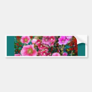 Pink Hollyhock Garden Gifts by Sharles Bumper Sticker