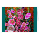 Pink Hollyhock Garden Gifts by Sharles Greeting Cards