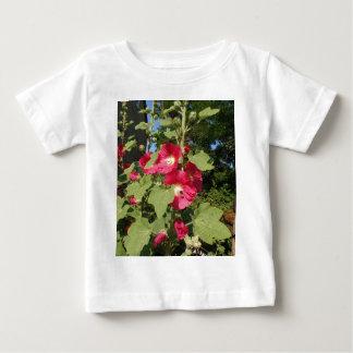 Pink Hollyhocks Baby T-Shirt