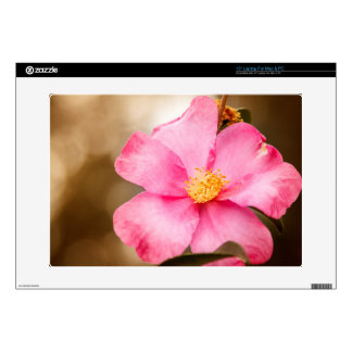 """Pink Home Run Rose with Yellow Decals For 15"""" Laptops"""