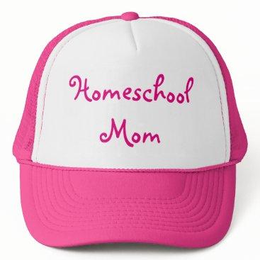 Beach Themed Pink Homeschool Mom Trucker Hat
