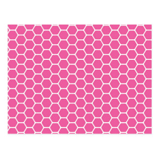 Pink Honeycomb Postcard