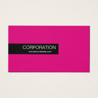 Pink honeycomb unique standard business cards