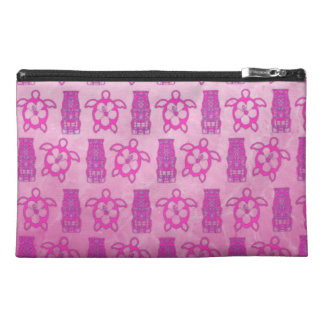 Pink Honu And Tiki Mask Travel Accessories Bags