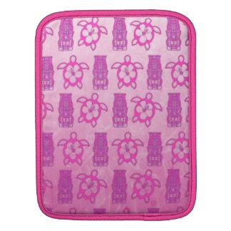 Pink Honu And Tiki Mask iPad Sleeve