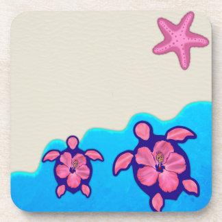 Pink Honu Turtles Coaster