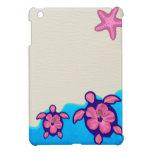 Pink Honu Turtles iPad Mini Cover