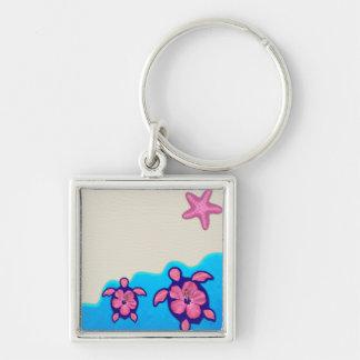 Pink Honu Turtles Key Chain