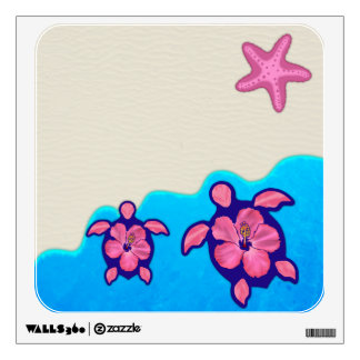 Pink Honu Turtles Wall Decal