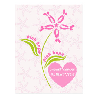 Pink Hope Breast Cancer Awareness Survivor Postcard