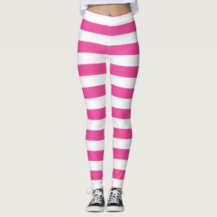 b62a028415bf5 Women's White Horizontal Line Leggings | Zazzle