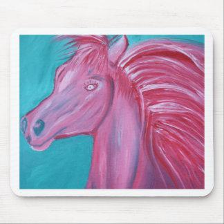 Pink Horse acrylic paint Mousepad