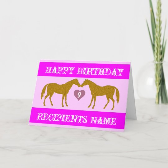 Lilac Horse Lover Personalised Birthday Card