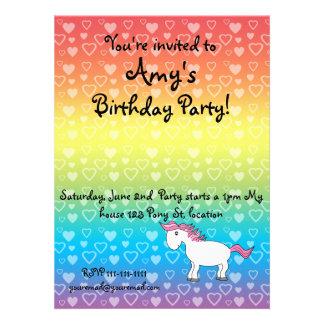 Pink horse birthday invitation