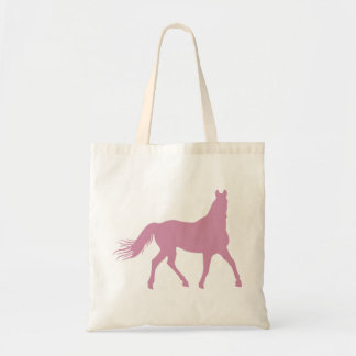 Pink Horse Budget Tote Bag