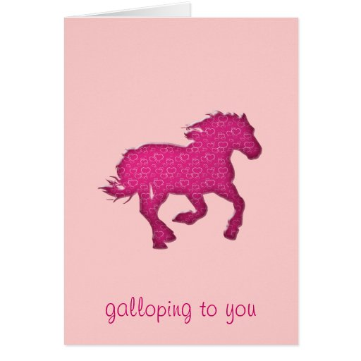 pink horse card