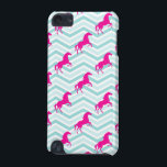 "Pink Horse, Equestrian, Teal Green Blue iPod Touch (5th Generation) Case<br><div class=""desc"">You will love this cool,  cute,  Pink Horse,  Equestrian,  Teal Green Blue  pattern design. Visit our store,  Birthday Party House,   to see great gifts,  party invites,  and more!  Thank you!</div>"