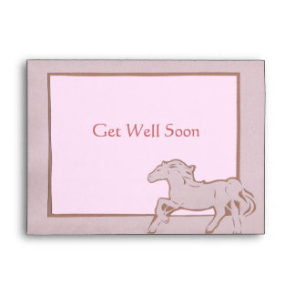 Pink Horse Greeting Card Envelope
