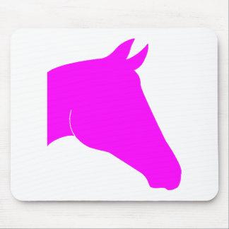 Pink Horse Head Mousepad