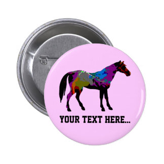 Pink Horse Personalized Pinback Button