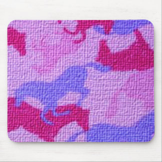 Pink Horses Canvas Mouse Pads