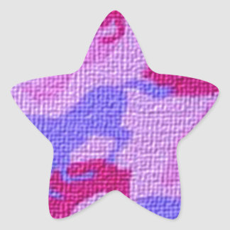 Pink Horses Canvas Star Sticker