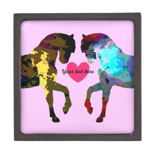 Pink Horses Personalized Trinket Box Premium Trinket Boxes