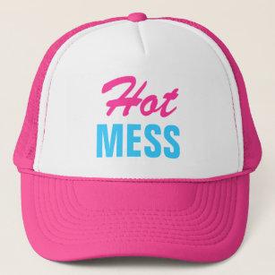 51896884486 Pink Hot Mess Trucker Hat