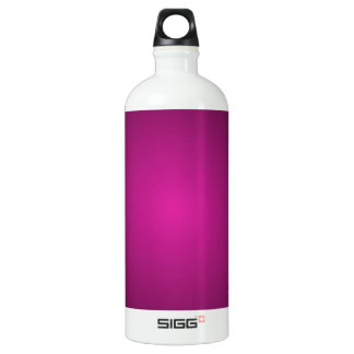 Pink Hot Pink and Black Plainly 3D Customizable Aluminum Water Bottle